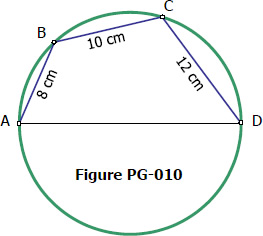 Cyclic quadrilateral inscribed in a circle of unknown radius