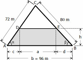 Trapezoidal strip of land segregated from triangular lot