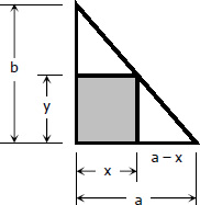 Largest Rectangle Inscribed in a Triangle