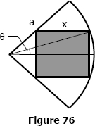 Rectangle inscribed in a circular quadrant