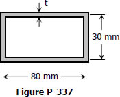 Fig. P-337 Rectangular thin walled section