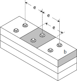 Spacing of Bolts in Isometric View