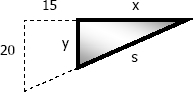 length of shadow from eye level light